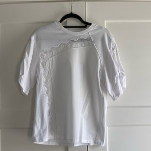 NWT Phillip Lim White T Shirt w/ Accent Sleeves XS